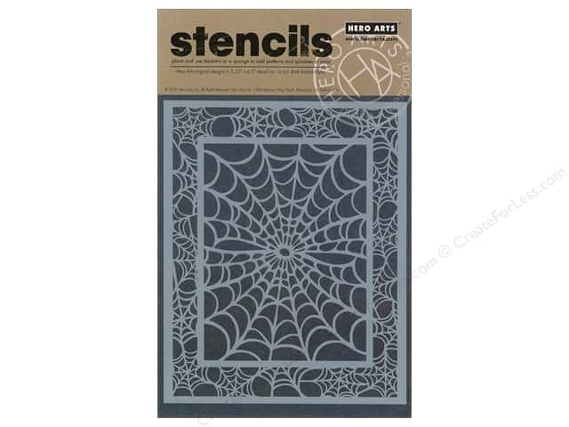 "Hero Arts Stencil 5.25""x 6.5"" Spider Web"