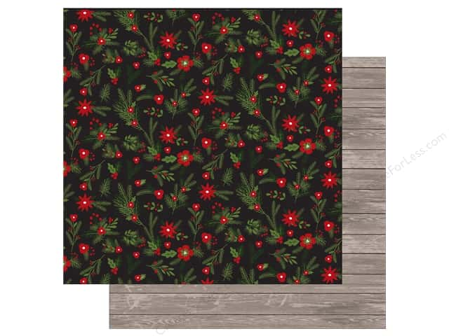 Carta Bella 12 x 12 in. Paper Christmas Delivery Christmas Floral (25 sheets)