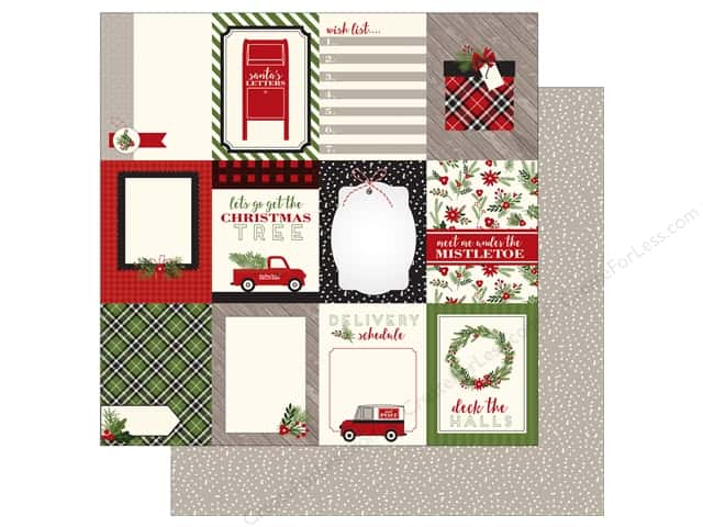 Carta Bella 12 x 12 in. Paper Christmas Delivery 3X4 Journaling Cards (25 sheets)