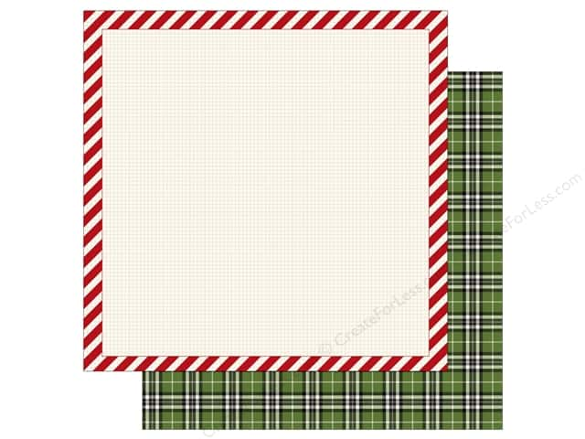 Carta Bella 12 x 12 in. Paper Christmas Delivery Striped Frame (25 sheets)