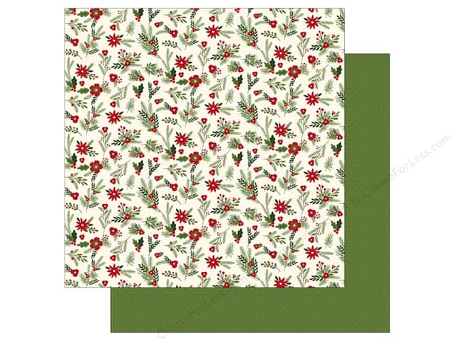 Carta Bella 12 x 12 in. Paper Christmas Delivery Festive Florals (25 sheets)