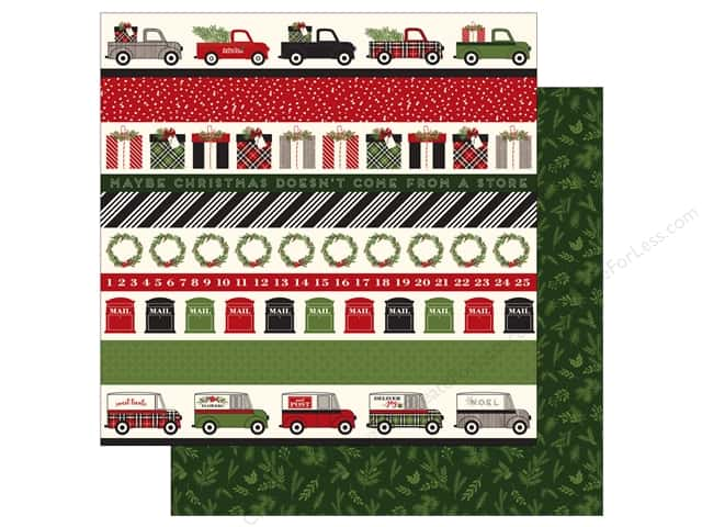 Carta Bella 12 x 12 in. Paper Christmas Delivery Border Strips (25 sheets)