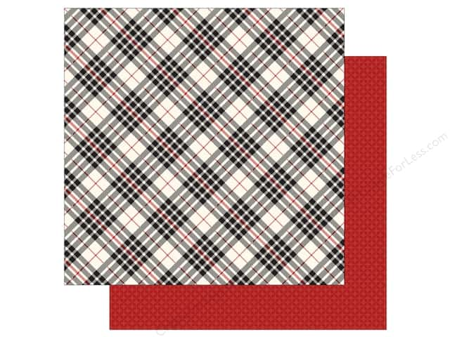 Carta Bella 12 x 12 in. Paper Christmas Delivery Black & Cream Plaid (25 sheets)