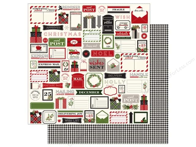 Carta Bella 12 x 12 in. Paper Christmas Delivery Christmas Tags (25 sheets)