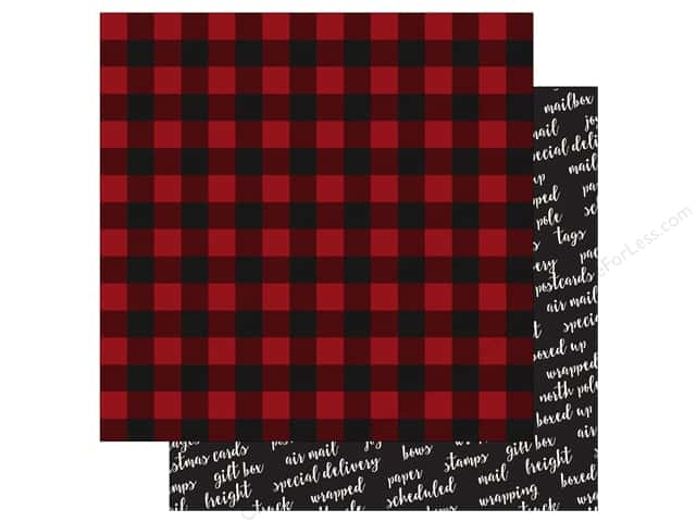 Carta Bella 12 x 12 in. Paper Christmas Delivery Cozy Plaid (25 sheets)
