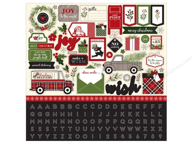 Carta Bella Stickers Christmas Delivery Element (15 sheets)