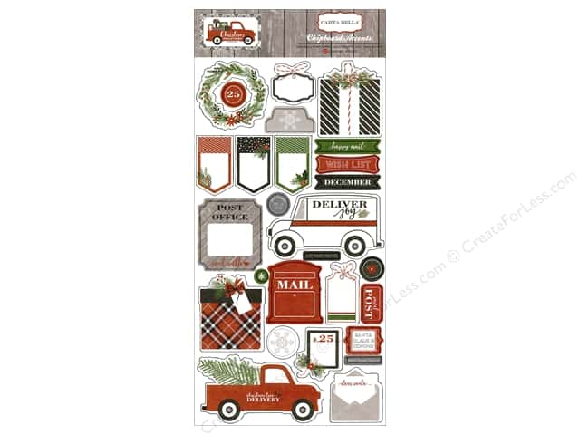 Carta Bella Chipboard Accents Christmas Delivery
