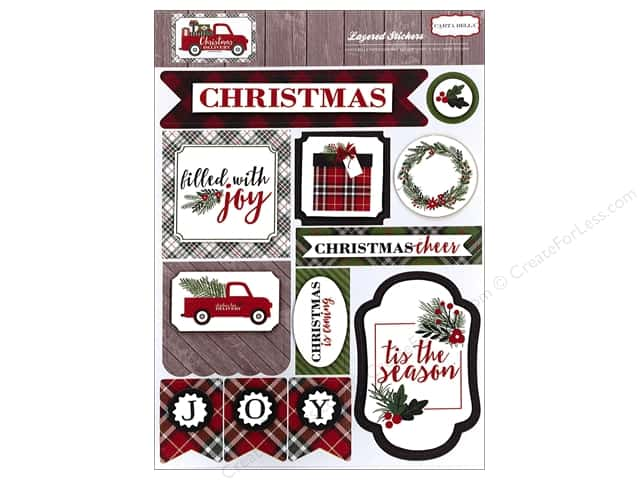 Carta Bella Layered Stickers Christmas Delivery