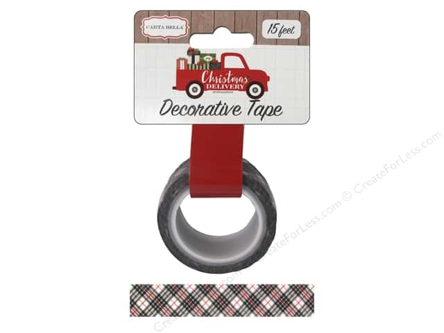 Carta Bella Decorative Tape Christmas Delivery Plaid