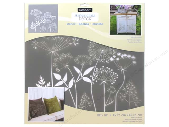 DecoArt Americana Decor Stencil 18 x 18 in. Wildflowers