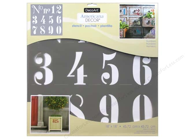 DecoArt Americana Decor Stencil 18 x 18 in. Numbers