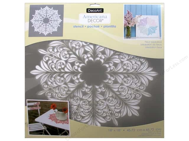 DecoArt Americana Decor Stencil 18 x 18 in. Fleur Medallion