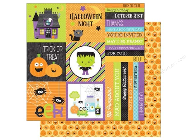 Doodlebug 12 x 12 in. Paper Boos & Brews Jolly Jack-O-Lantern (25 sheets)