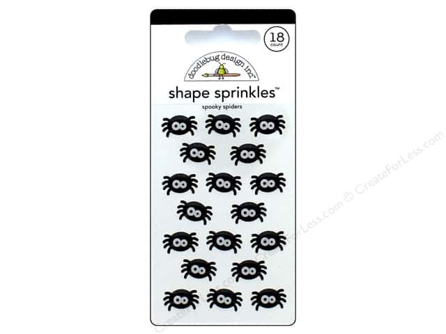 Doodlebug Sprinkles Stickers Boos & Brews Spooky Spiders