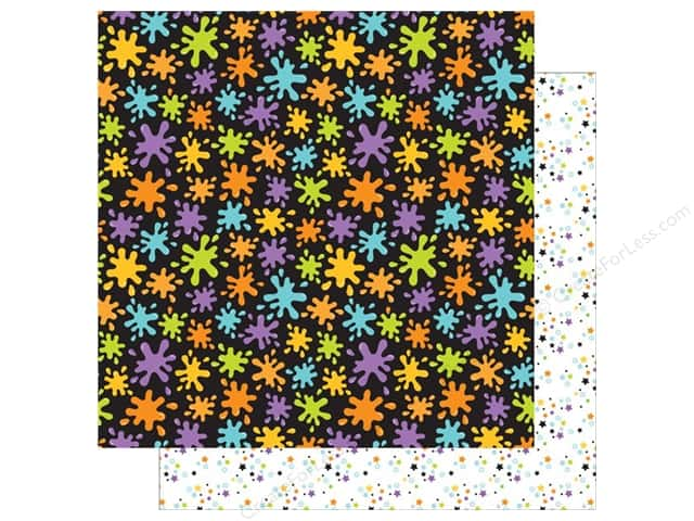 Doodlebug 12 x 12 in. Paper Boos & Brews Matter Splatters (25 sheets)