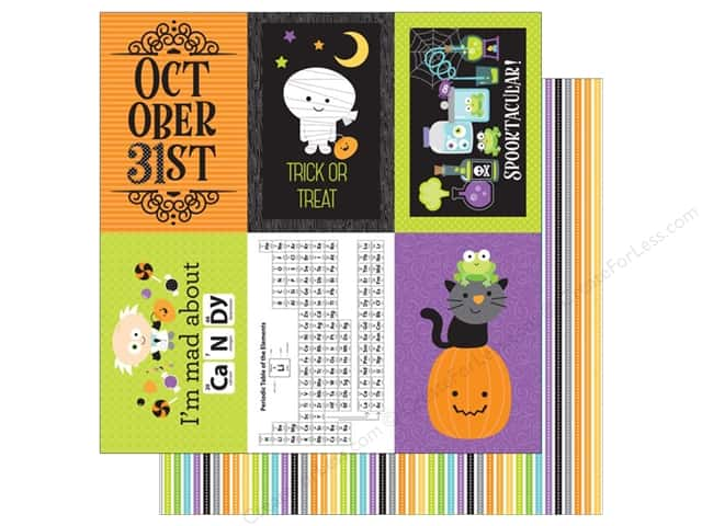 Doodlebug 12 x 12 in. Paper Boos & Brews Trick or Treat Stripe (25 sheets)