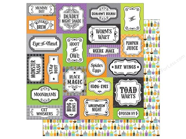 Doodlebug 12 x 12 in. Paper Boos & Brews Bottles & Brews (25 sheets)