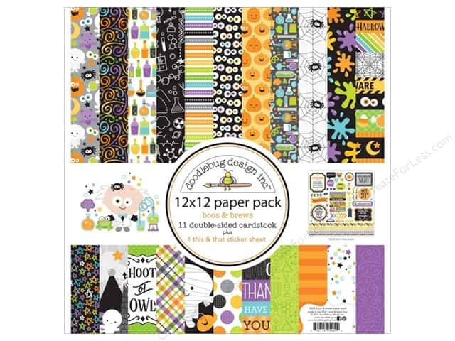 Doodlebug 12 x 12 in. Paper Pack Boos & Brews