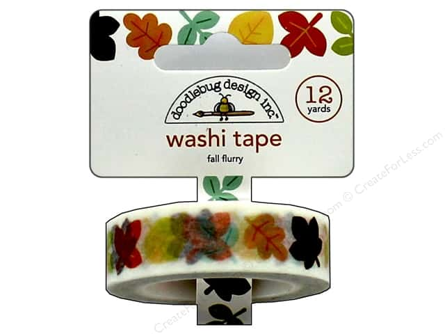 Doodlebug Washi Tape 5/8 in. x 12 yd. Flea Market Fall Flurry