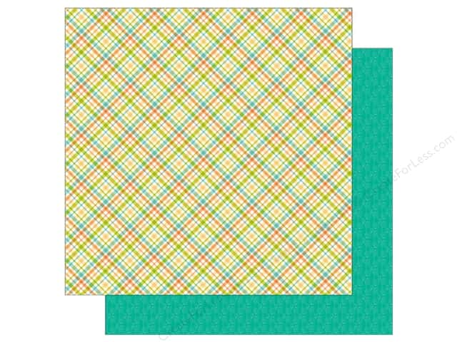 Doodlebug 12 x 12 in. Paper Flea Market Garden Plaid (25 sheets)
