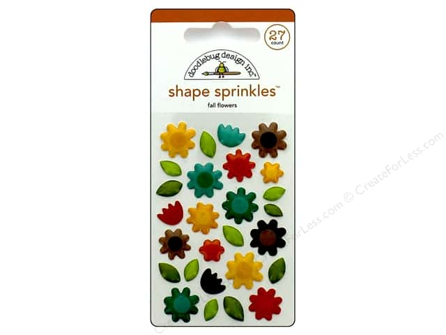 Doodlebug Sprinkles Stickers Flea Market Fall Flowers