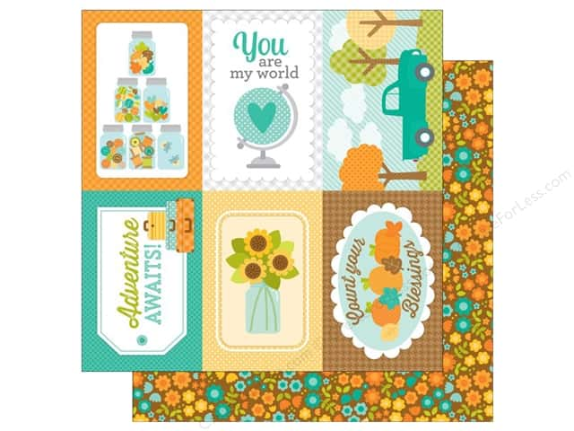 Doodlebug 12 x 12 in. Paper Flea Market Fall Bunch (25 sheets)