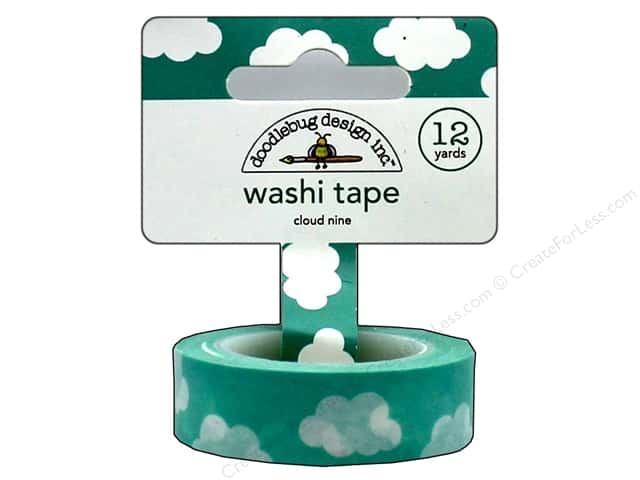 Doodlebug Washi Tape 5/8 in. x 12 yd. Flea Market Cloud Nine