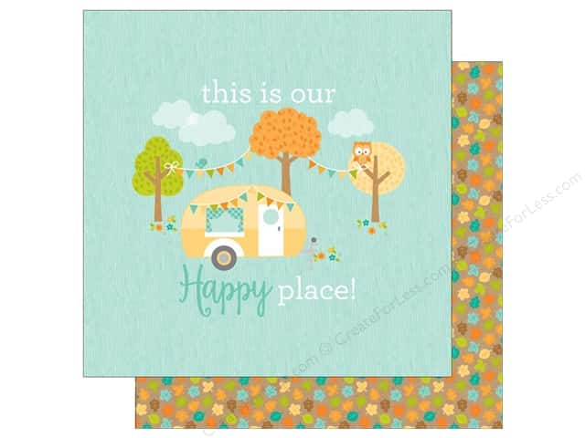 Doodlebug 12 x 12 in. Paper Flea Market Our Happy Place (25 sheets)