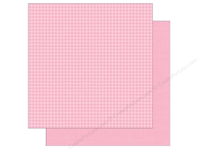 Doodlebug 12 x 12 in. Paper Petite Prints Gingham Linen Cupcake (25 sheets)
