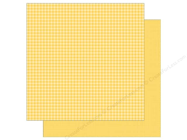 Doodlebug 12 x 12 in. Paper Petite Prints Gingham Linen Bumblebee (25 sheets)