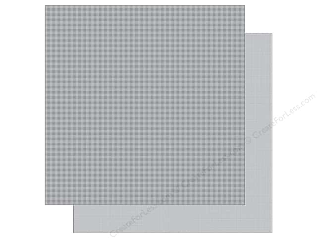 Doodlebug 12 x 12 in. Paper Petite Prints Gingham Linen Stone Gray (25 sheets)