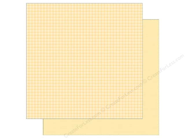 Doodlebug 12 x 12 in. Paper Petite Prints Gingham Linen Lemon (25 sheets)