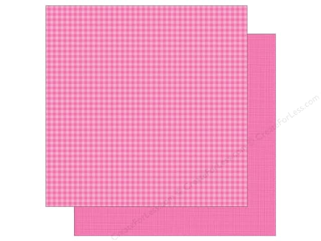 Doodlebug 12 x 12 in. Paper Petite Prints Gingham Linen Bubblegum (25 sheets)