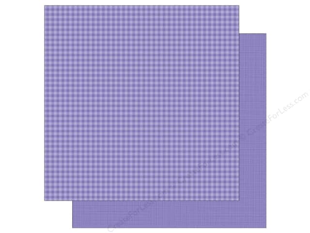 Doodlebug 12 x 12 in. Paper Petite Prints Gingham Linen Lilac (25 sheets)