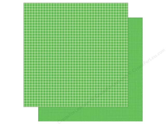Doodlebug 12 x 12 in. Paper Petite Prints Gingham Linen Grasshopper (25 sheets)