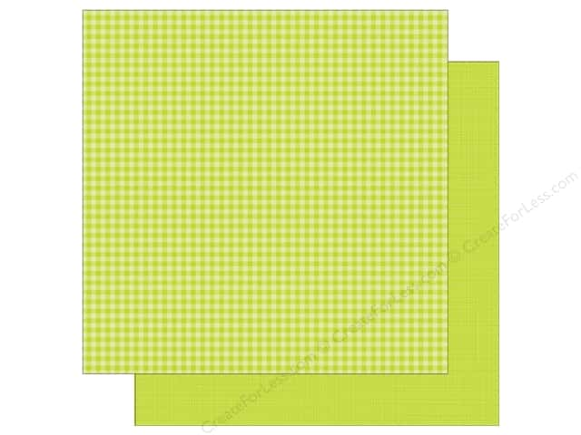 Doodlebug 12 x 12 in. Paper Petite Prints Gingham Linen Citrus (25 sheets)