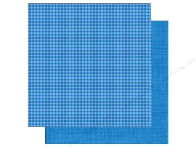Doodlebug 12 x 12 in. Paper Petite Prints Gingham Linen Blue Jean (25 sheets)