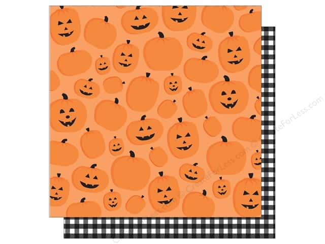 American Crafts 12 x 12 in. Paper Halloween Pumpkin Patch (25 sheets)