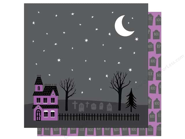 American Crafts 12 x 12 in. Paper Halloween Haunted Graveyard (25 sheets)