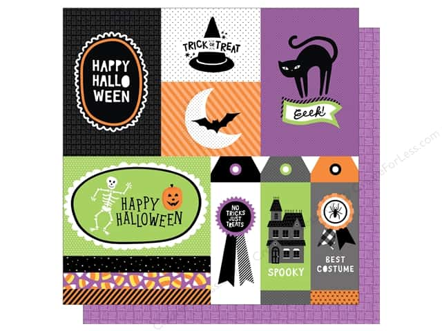 American Crafts 12 x 12 in. Paper Halloween Jeepers Creepers (25 sheets)