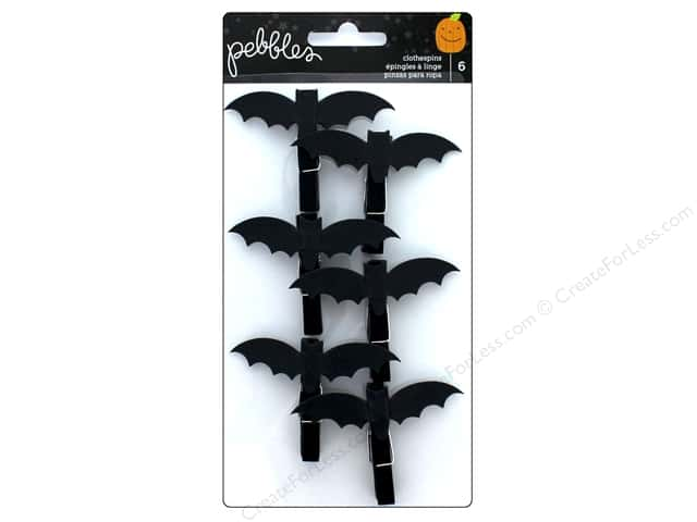 Pebbles Collection Trick Or Treat Clothespins Bats
