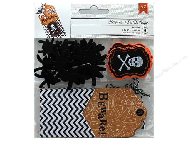 American Crafts Tag Kit Halloween Beware