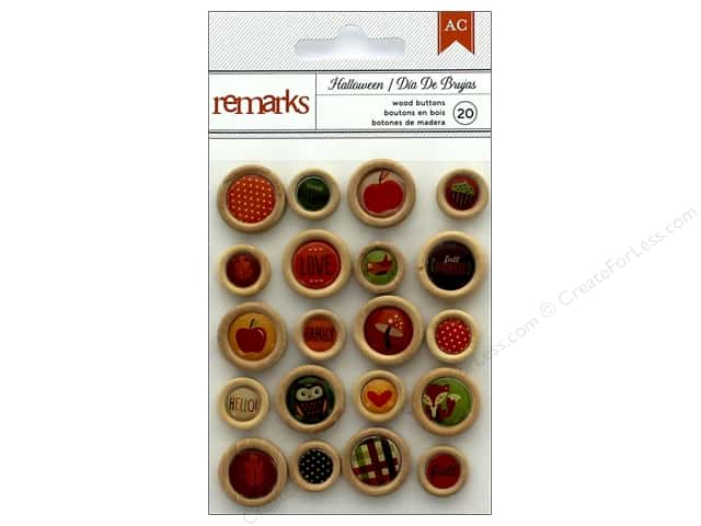 American Crafts Buttons 20 pc. Halloween
