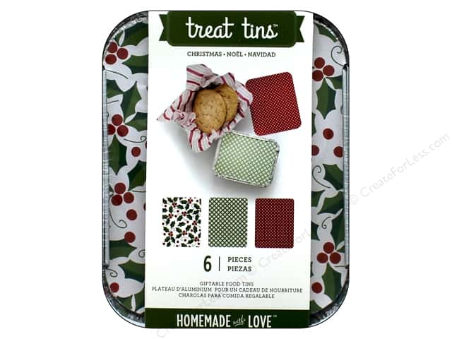 American Crafts Treat Tins 3 pc. Small Christmas