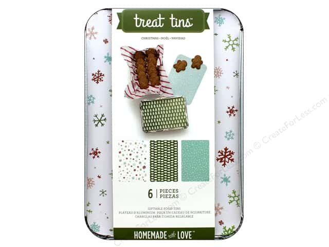American Crafts Treat Tins 3 pc. Large Christmas