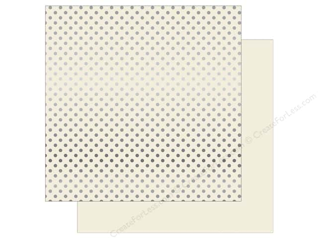 Echo Park 12 x 12 in. Paper Dots & Stripes Christmas Silver Foil Ivory (25 sheets)