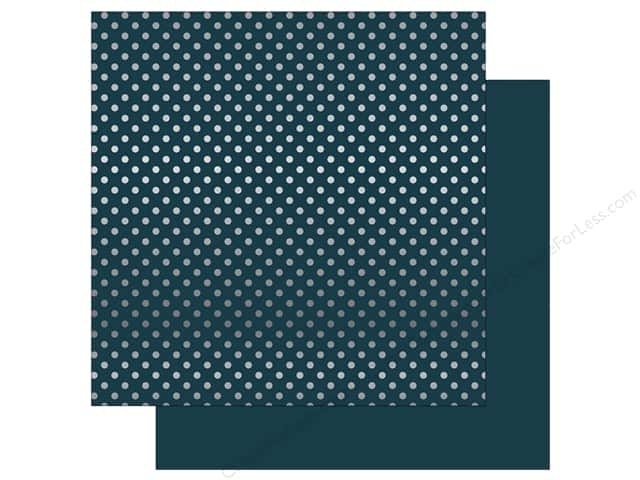 Echo Park 12 x 12 in. Paper Dots & Stripes Christmas Silver Foil Navy (25 sheets)