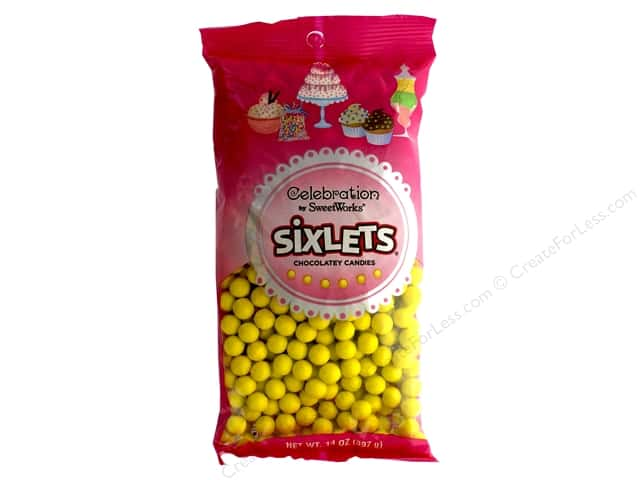 SweetWorks Celebration Sixlets 14 oz. Yellow