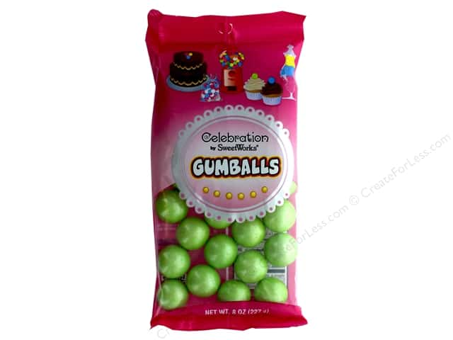 SweetWorks Celebration Gumballs 8 oz. Shimmer Lime Green