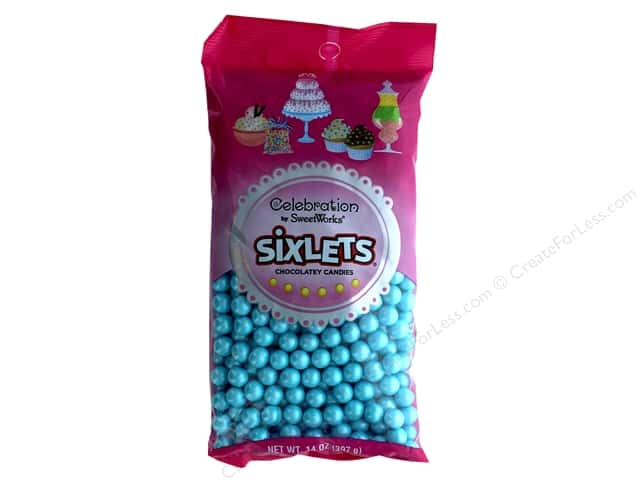 SweetWorks Celebration Sixlets 14 oz. Shimmer Powder Blue